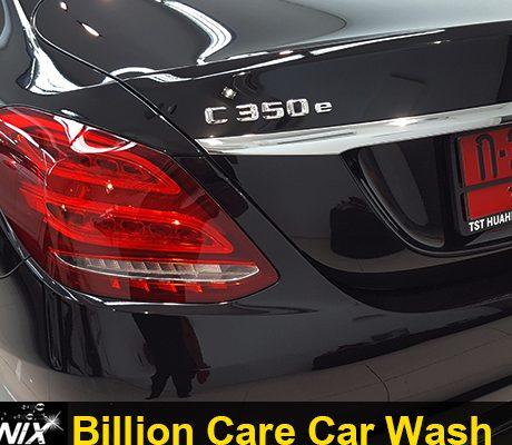 ผลงานเคลือบแก้ว Benz C350e Billioncare Billion Billioncarwash adogking