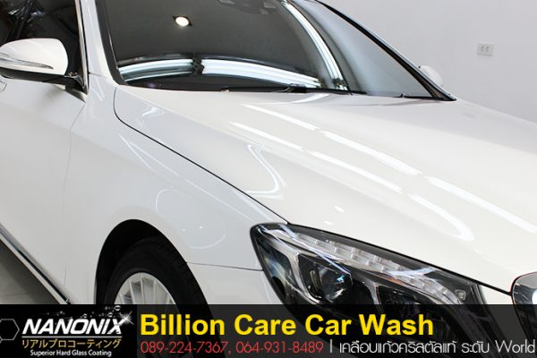 ผลงานเคลือบแก้ว Benz S300 Billioncare Carewash Glass Coating adogking kungkung