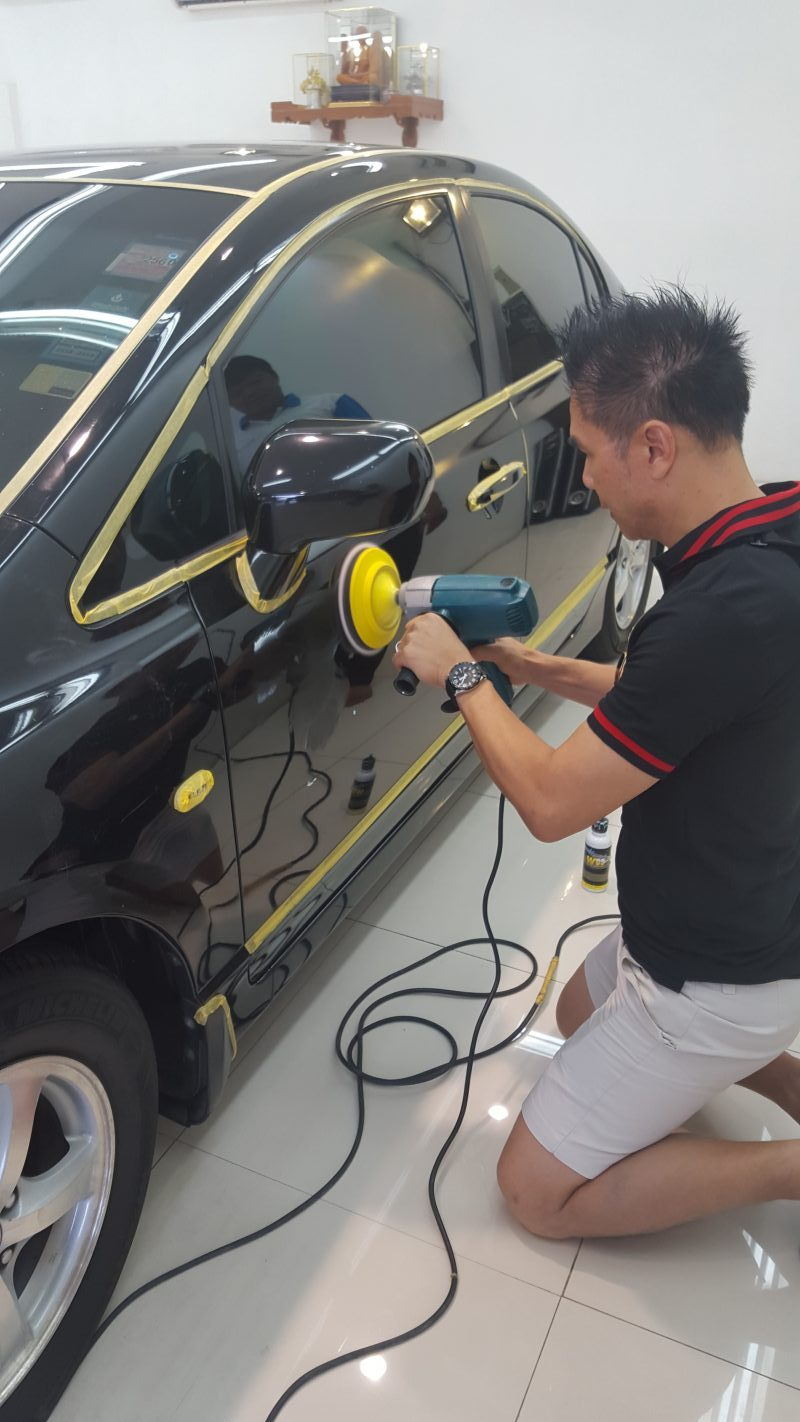 อบรมธุรกิจคาร์แคร์ สอนธุรกิจคาร์แคร์ ร้านเอวัน A1 Auto Glass สวนหลวงประเวศ Billion Care Car Wash