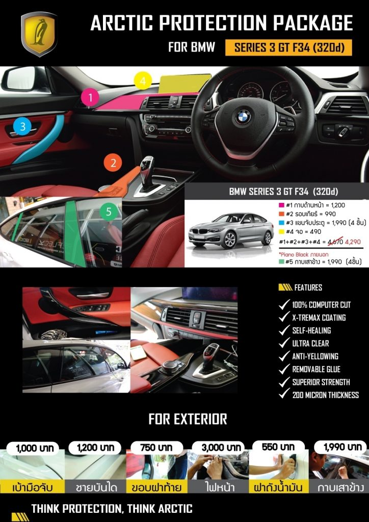 Billion Care บิลเลี่ยนแคร์ สุขาภิบาล3 ฟิล์มกันรอยรถยนต์ BMW